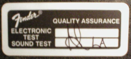 quality assurance sticker